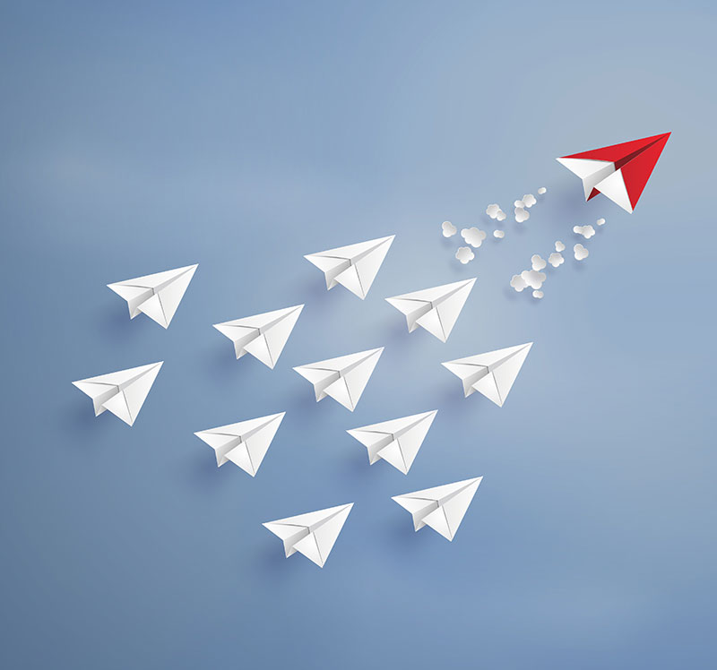 Paper plane formation